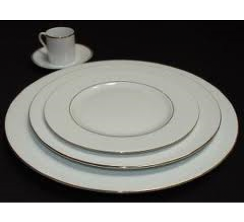 Assiette de table filet or diam 26