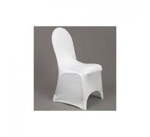 Housse chaise lycra blanc